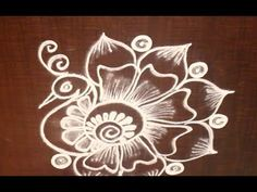 Very Creative & Simple Kolam / rangoli Design without using Dots Easy Rangoli Designs Videos, Rangoli Designs Flower, Rangoli Designs Latest, Colorful Rangoli Designs, Rangoli Designs Images, Rangoli Designs Diwali, Kolam Rangoli, Beautiful Rangoli Designs, Mehandi Designs