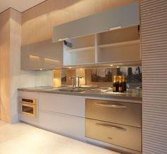 Tampo da cozinha cinza, bonito!:
