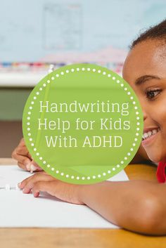 ADHD Handwriting help for Kids - Pinned by Therapy Source, Inc. - txsource.net