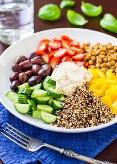 Mediterranean Vegan Bowl | Community Post: 23 Insanely Delicious Quinoa Recipes For Literally Every Occasion