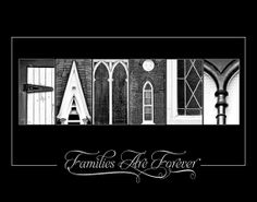 Alphabet Photo Letter Art - Letter Photography - LDS art - 11x14 Family Letter Art Print    $33