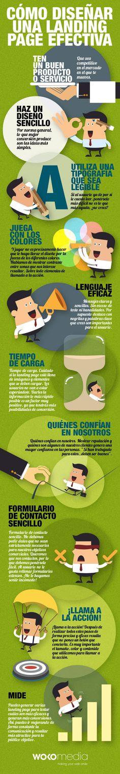 Cómo diseñar una Landing Page efectiva vía: http://wokomedia.com/como-disenar-una-landing-page-efectiva/ #infografia #infographic #marketing