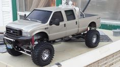 Here is my finished Tamiya Crewcab, A little under a year to finish, the cab is a solid custom fiberglass molded piece, no grafting of 2 or Rc Cars And Trucks, Custom Trucks, Traxxas 4x4, Triumph Motorcycles, Range Rover White, Rc Drift Cars, Truck Tool Box, Scooters, Ducati