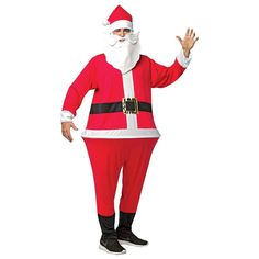 This Men's Santa Adult Hoopster Costume in One Size Fits Most lets you transform into a holiday icon all year round. Add a beard and shopping list to complete the jolly look. Santa Costume, Halloween Costumes For Teens, Christmas Costumes, Adult Costumes, Morris Costumes, Holiday Icon, Halloween Men, Shopping, Jumpsuit