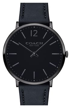 COACH 'Slim Easton' Leather Strap Watch, 40mm | Nordstrom