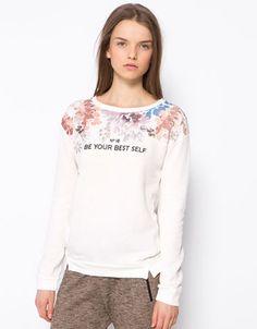 Bershka United Kingdom - BSK floral print jumper