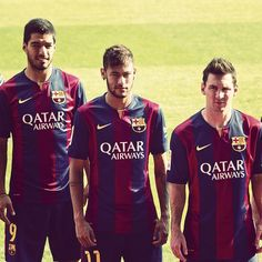 Leo Messi Neymar Jr. and Luis Suarez on FIFA FIFPro 2014 striker shortlist