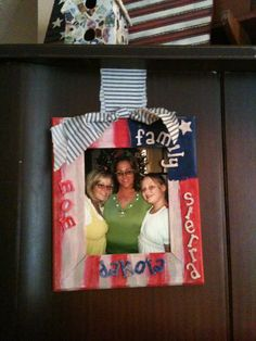 A handmade gift from my daughter, Sierra - wooden painted picture frame with our family picture. Christmas 2009.