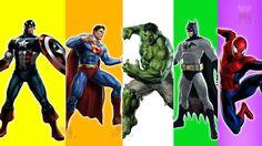 """Superheroes Finger Family Songs - Superman Batman Spiderman Hulk & more!! Superheroes Finger Family Songs - Superman Batman Spiderman Hulk & more!! Watch and enjoy """"Cake Pop Finger Family Collection"""" nursery rhyme for children.  """"Best Finger Family Songs 2016 - Top 100 Finger Family Collection"""" https://www.youtube.com/watch?v=mz6beZbD6jM&list=PLckRdJ9IgeLdk33wP3Z3F5IGG-TehH0sd&index=2  """"Candy Pop finger family songs - Finger Family Nursery Rhymes Collection - Daddy Finger Rhyme""""…"""