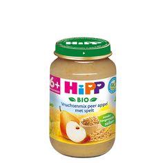 Heerlijke biologische vruchtenmoes gemengd met biologische granen. HiPP Bio…