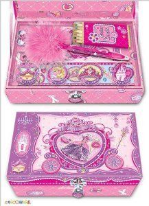 Pecoware / Trinket Box with Accessories & Lock, Princess Rose Slippers by Pecoware Company Inc.. $14.00. For ages 5 years and older. Fun trinket box features royal decorations and a lock for privacy. A precious gift fit for a princess or a princess at heart. Comes complete with fun accessories including 3-D stickers, colored pencils and memo pad. She can keep all of her precious things organized and together in one special place. This fun trinket box fit for a princess...