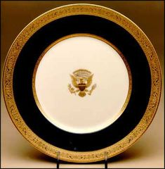 President Wilson's presidential china, the first to be manufactured in the U.S.