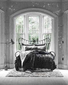 ♅ Dove Gray Home Decor ♅ romantic grey bedroom