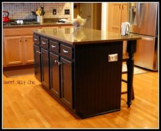 Diy kitchen island made from stock cabinets kitchen ideas diy kitchen island update sweet silly chic solutioingenieria Gallery