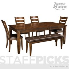 Kona Dining Collection | This dining set is a contemporary-inspired set with just enough rustic touches to give it an incredibly wide appeal.