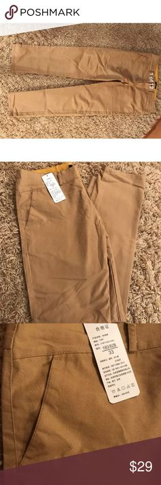 Khaki Light Brown Hipster Skinny Pants 33 Khaki Light Brown Hipster Skinny Pants 33. Worn once for a Rick and Morty Halloween cosplay costume. Slim fit.  Fashion with favourite. Slacks slim fit. Pants Chinos & Khakis