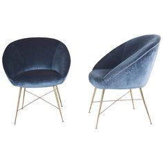 Silvio Cavatorta Pair of Armchairs ca.1958   From a unique collection of antique and modern lounge chairs at https://www.1stdibs.com/furniture/seating/lounge-chairs/