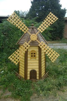 decorative windmills dot the landscape and attract good luck - Decorative Windmills