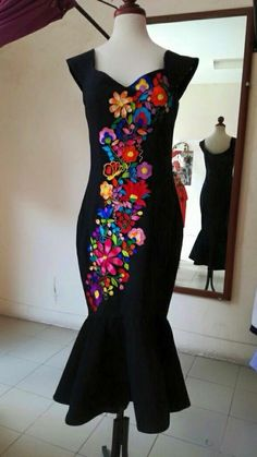 Dresses Mexican Fashion, Mexican Outfit, Mexican Dresses, Mexican Style, Quince Dresses, 15 Dresses, Dress Outfits, Fashion Dresses, Cute Outfits