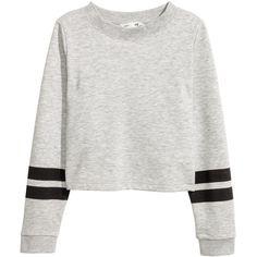 Sweatshirt with Printed Design $12.99 ($13) ❤ liked on Polyvore featuring tops, hoodies, sweatshirts, white top, ribbed long sleeve top, print top, white sweatshirt and patterned sweatshirt