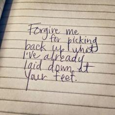 Reflexiones: forgive me