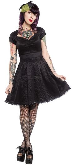 PARTY PRINCESS DRESS - BLACK- BY SOURPUSS