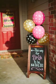 Glitter themed Bachelorette Party! Sign for bride-to-be!
