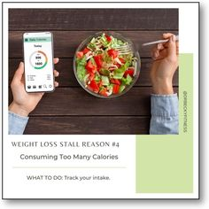 """""""Here again, the solution is to track your intake. This time tracking your calorie intake, which is a valuable thing to do even if you think you have a good idea of how much you are eating. Studies have shown that we are notoriously bad at estimating our food intake. In one study,.."""" Weight Loss Goals, Healthy Weight Loss, Calorie Intake, Superfoods, Low Carb, Diet, Track, Study, Studio"""