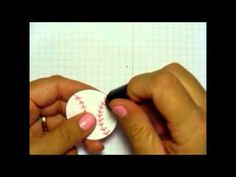 Quick and Simple Baseball Card - How to make a baseball or softball with Stampin' Up! products for a masculine greeting card