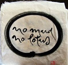no mud, no lotus ~ love this...so true