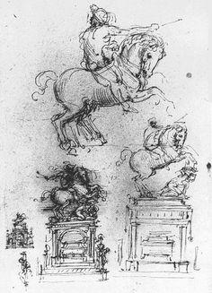 Study for the Trivulzio Equestrian Monument by Leonardo da Vinci #art