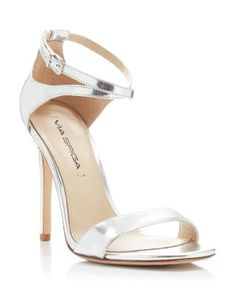 Via Spiga Tiara Metallic Ankle Strap High Heel Sandals | Bloomingdale's