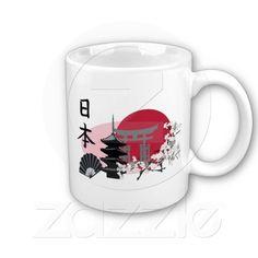 Japanese Landmarks Coffee Mugs