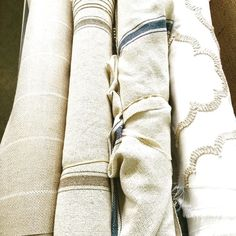Guess which fabric I choose to recover some chair seats? #lovethese #farmhousestyle