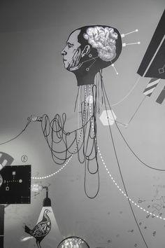 Mécaniques Discursives at Nuit Blanche / October 2013 / Metz / F #MecaniquesDiscursive #FredPenelle #YannickJacquet #VideoMapping #woodcut