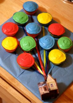 Pixar Up Birthday Cupcakes