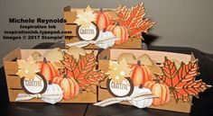 At Home with You Pumpkin Maple Crates by Michelerey - Cards and Paper Crafts at Splitcoaststampers Fall Paper Crafts, Paper Crafting, Thanksgiving Favors, Thanksgiving 2017, Diy Gift Box, Gift Boxes, Treat Holder, Craft Show Ideas, Pretty Packaging