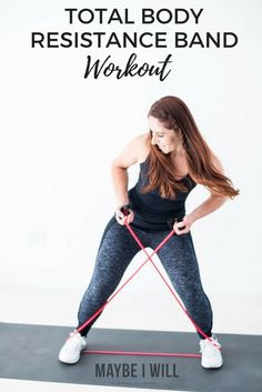 Total Body Resistance Band Workout! - Strength train wherever you may be! With this total body sculpting resistance band workout! via @andiethueson (Easy Fitness Tips)