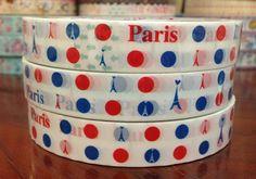 Deco tape stickers  Paris Eiffel Tower & Dots DT492 by CharmTape, $2.55