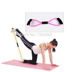 Free shipping 8 Shaped Pull Rope Girls Chest Latex Expander Yoga Pilates Fitness Gym-in Resistance Bands