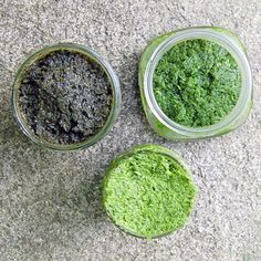 Fresh Herb Paste from It's Not Easy Eating Green