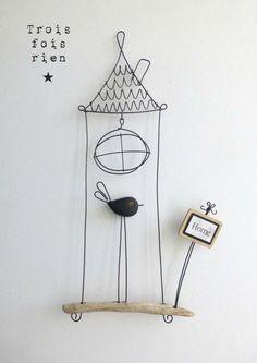 1000 ideas about fil de fer on pinterest twine for Cage a oiseau decorative