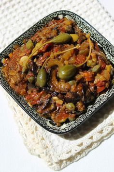 Caponata de berinjela no siciliano Vegetarian Recipes, Cooking Recipes, Healthy Recipes, Cooking Games, Cooking Classes, Sicilian Caponata Recipe, Appetizer Recipes, Dinner Recipes, Soup Appetizers