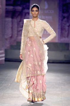 lovely soft pink sari | Anju Modi