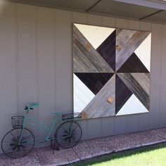 Windmill quilt square wall art after installation. Made for outdoors. Windmill quilt square wall art after installation. Made for outdoors. Reclaimed Wood Wall Art, Wooden Wall Decor, Wooden Walls, Barn Wood, Barn Quilt Designs, Barn Quilt Patterns, Navajo, Outdoor Wall Art, Outdoor Walls