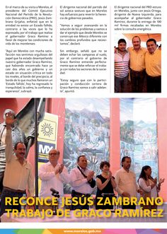 Reconoce Jesús Zambrano trabajo de Graco Ramírez en Morelos.