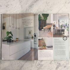 Marmor kjøkken og bad levert av oss! avbildet i nyeste utgave av Maisoninterior  |  carrara marble kitchen | bathroom | interior design | Decor, Kitchen, Home, Kitchen Island, Home Decor