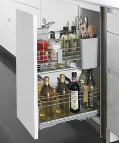 17 Luxury Kitchen Storage Solutions Ideas That You Must Try 030 Small Kitchen Organization, Kitchen Storage Solutions, Organized Kitchen, Modern Kitchen Interiors, Luxury Kitchen Design, Cutlery Storage, Kitchen Cabinetry, Cabinets, Kitchen Collection
