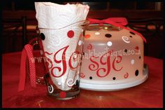 personalized tea pitcher with cake carrier