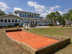 Test your DIY skills by building a backyard bocce ball court right outside your door. Let the games begin!  From the experts at DIYNetwork.com.
